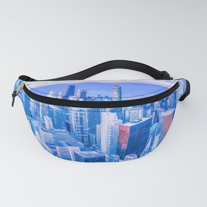 Blue Chicago Skyline Fanny Pack