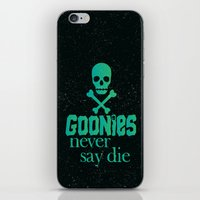 the goonies iPhone & iPod Skins featuring Goonies never say die by Rosaura Grant