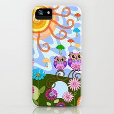 Happy Sun, Sea, Owls, Fish, Flowers and Patterns iPhone (5, 5s) Slim Case