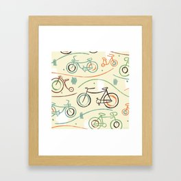 Fixies Bicyles Framed Art Print