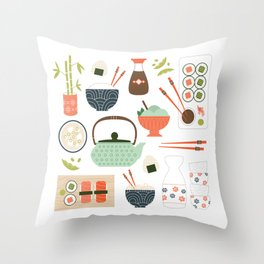 You had Me at Sushi Throw Pillow