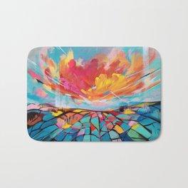 Abstract landscape #2 Bath Mat