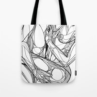 passion Tote Bags featuring Passion by Jasmine Smith