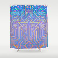 tron Shower Curtains featuring Tron-ish by Roberlan Borges