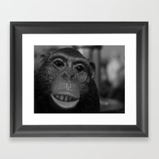 chimpancé Framed Art Print