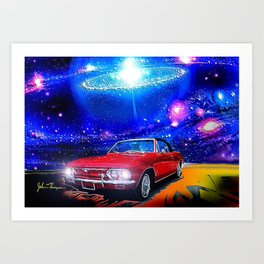 Cosmic Corvair Art Print