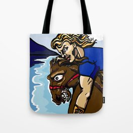 Alexander the Great w/ Bucephalus Horse Tote Bag