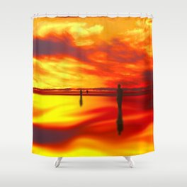 Reflections of Sunset Shower Curtain