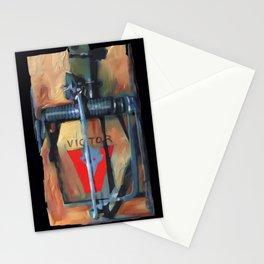 mousetrap / pop art, still life, object Stationery Cards