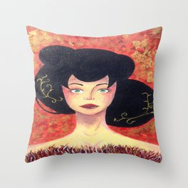 gold&red Throw Pillow