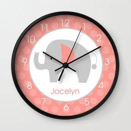 Jocelyn - Elephant clock Wall Clock