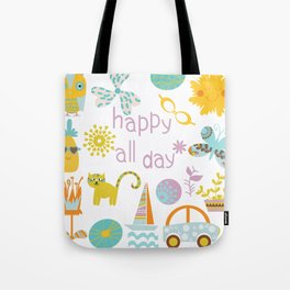 Happy all day) Tote Bag