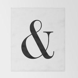 Ampersand Throw Blanket