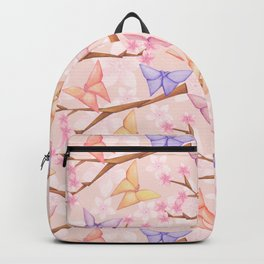 Cherry Blossoms & Butteflies Origami Backpack