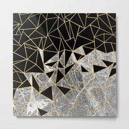 Marble Ab Metal Print