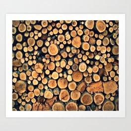 Pattern WOODS Art Print