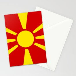 Macedonian Flag - Flag of Macedonia Stationery Cards
