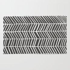Herringbone – Black & White Rug