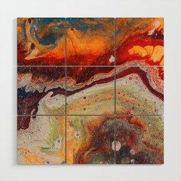 Fiery closeup Wood Wall Art
