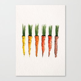 Happy colorful carrots Canvas Print
