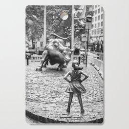 Fearless Girl Statue Wall Street Street Cutting Board