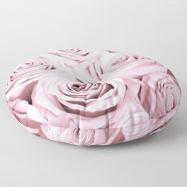 Pink Roses Flowers - Rose and flower pattern Floor Pillow