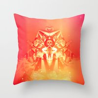 prometheus Throw Pillows featuring Prometheus Uprising by chyworks