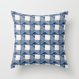 SEVILLE GINGHAM BLUE Throw Pillow