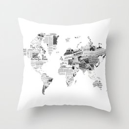 World News Throw Pillow