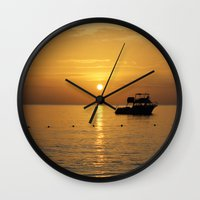 jamaica Wall Clocks featuring Sunset in Jamaica  by Jason Carnegie
