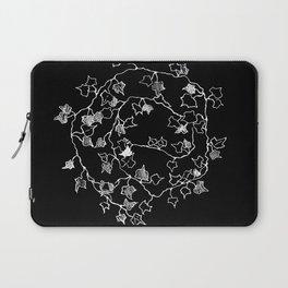 White ink, graphic art Laptop Sleeve
