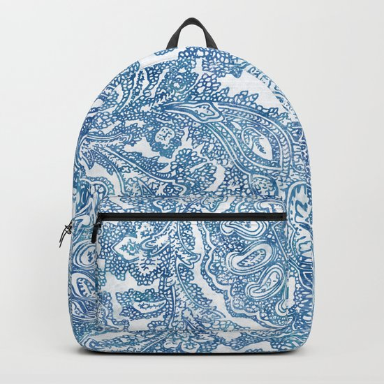 Blue Boho Paisley Pattern II Backpack