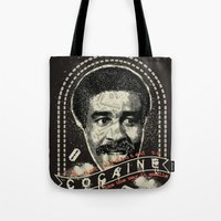 cocaine Tote Bags featuring Cocaine by Geekleetist