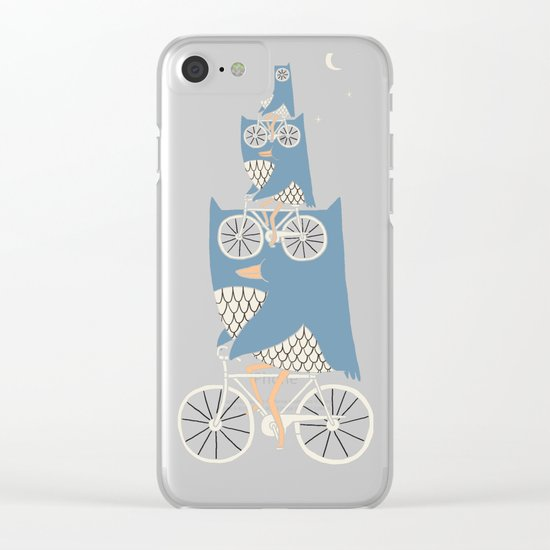 Night Rider Clear iPhone Case