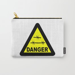 Triangle Barbed Wire Warning Sign Carry-All Pouch