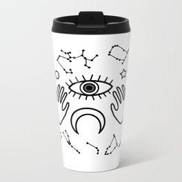 Eye and Horoscopes I Metal Travel Mug