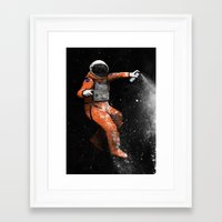 astronaut Framed Art Prints featuring Astronaut by Florent Bodart / Speakerine