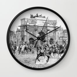Napoleon I Reviewing His Troops Wall Clock