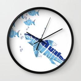 Silent Killer eats Nom Nom Fish Wall Clock