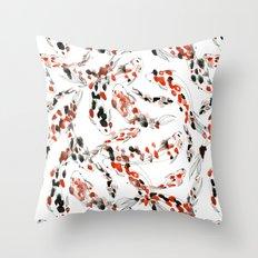 Living Jewel: Koi Throw Pillow