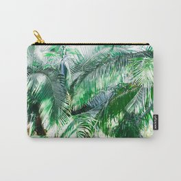 The wild shadow tropical palm tree green bright photography Carry-All Pouch