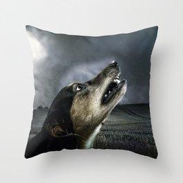 Dog moonlight 1 Throw Pillow