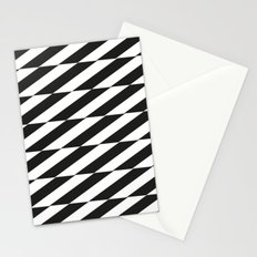 Optical Stripes in Black Stationery Cards