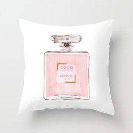 Classic Pink Parfum Throw Pillow