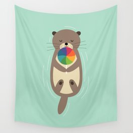 Sweet Otter Wall Tapestry
