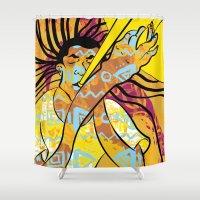 jazz Shower Curtains featuring Jazz by Sanfeliu