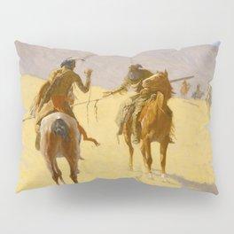 "Frederic Remington Western Art ""The Parley"" Pillow Sham"