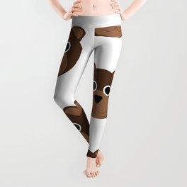 Brown Bears Pattern Leggings
