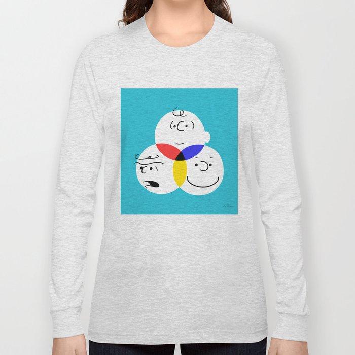 Charlie Brown Colour Wheel Long Sleeve T Shirt By Catalinanastase