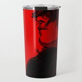 Smoking (Black on Red Variant) Travel Mug